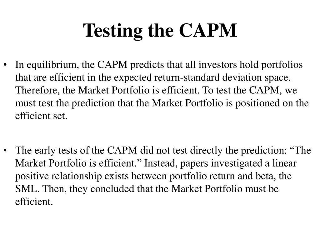 Testing the CAPM