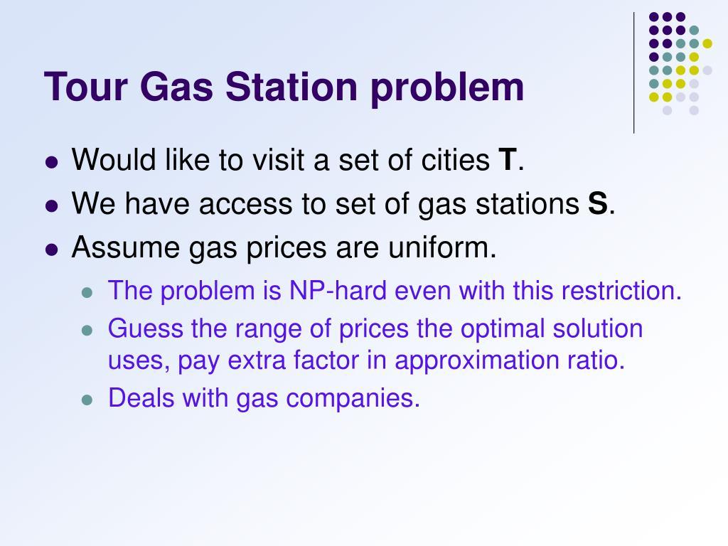 Tour Gas Station problem