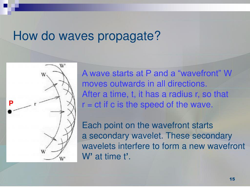How do waves propagate?