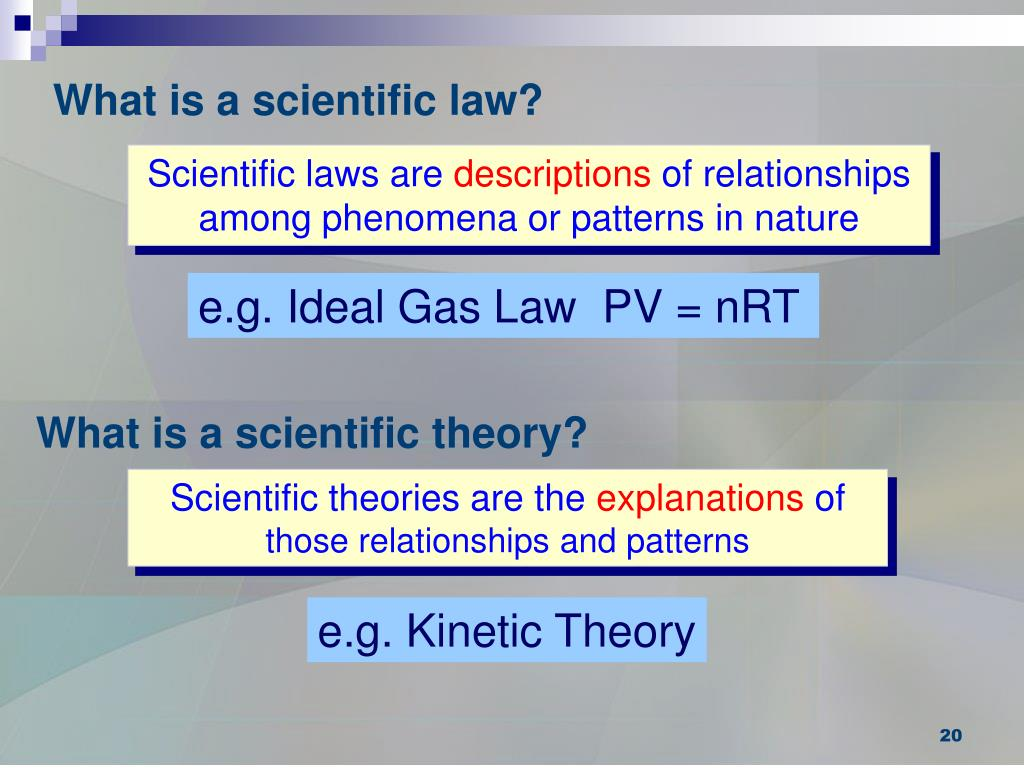 What is a scientific law?