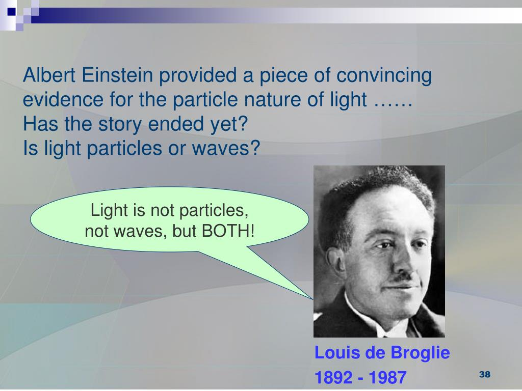Albert Einstein provided a piece of convincing evidence for the particle nature of light ……