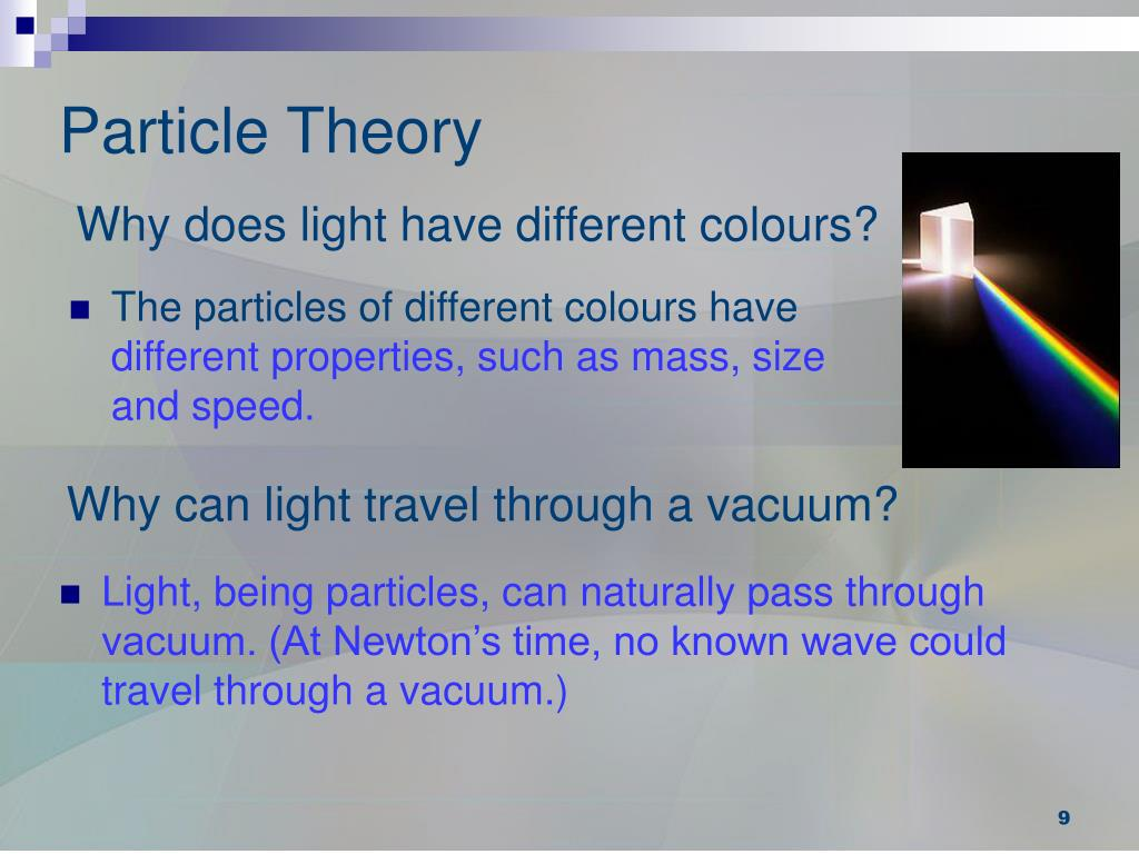 Why does light have different colours?