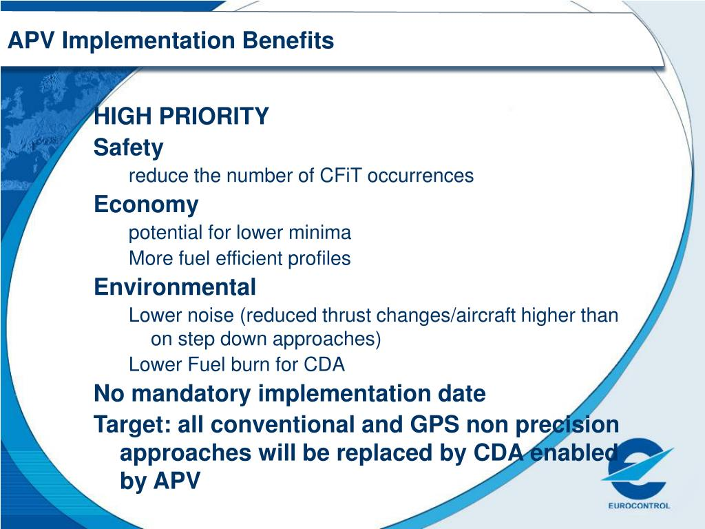 APV Implementation Benefits