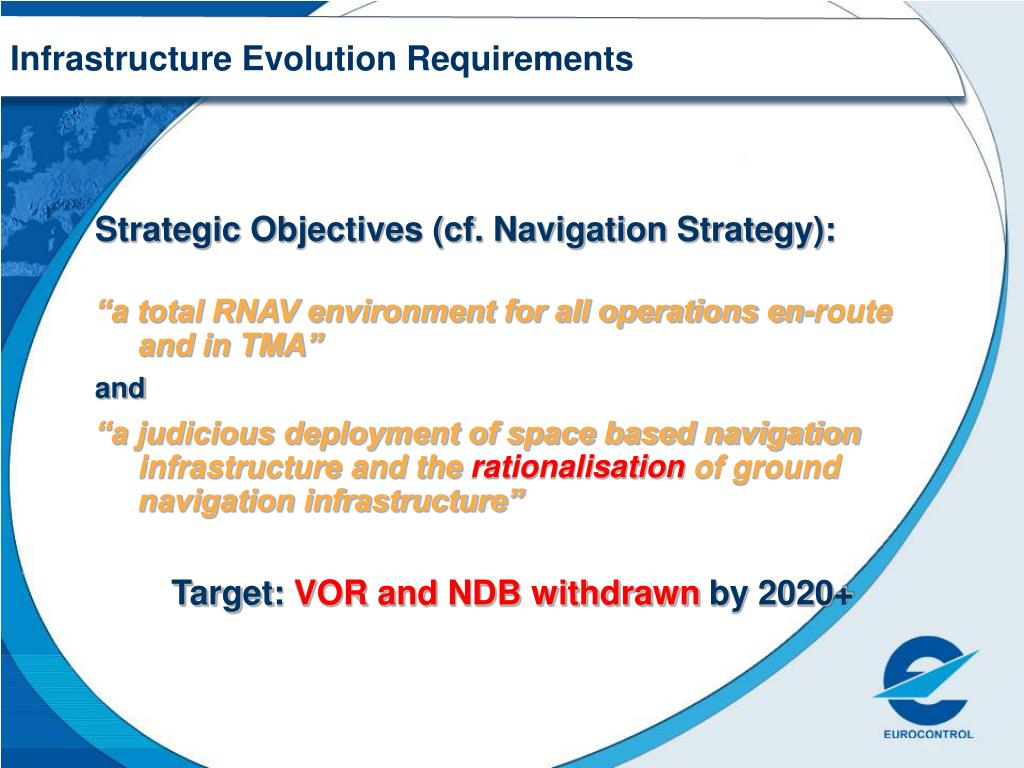 Infrastructure Evolution Requirements