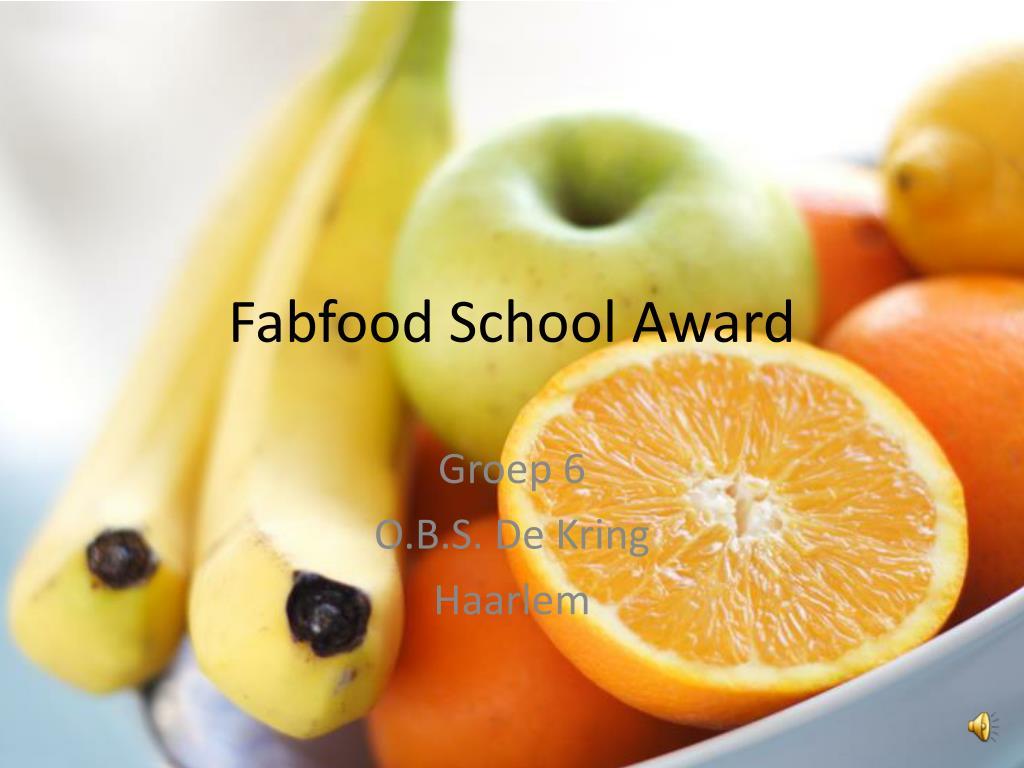 fabfood school award