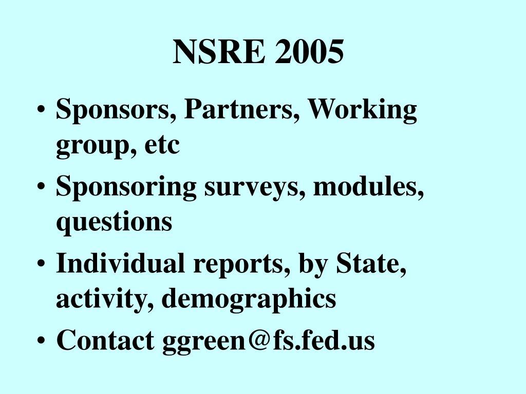 NSRE 2005