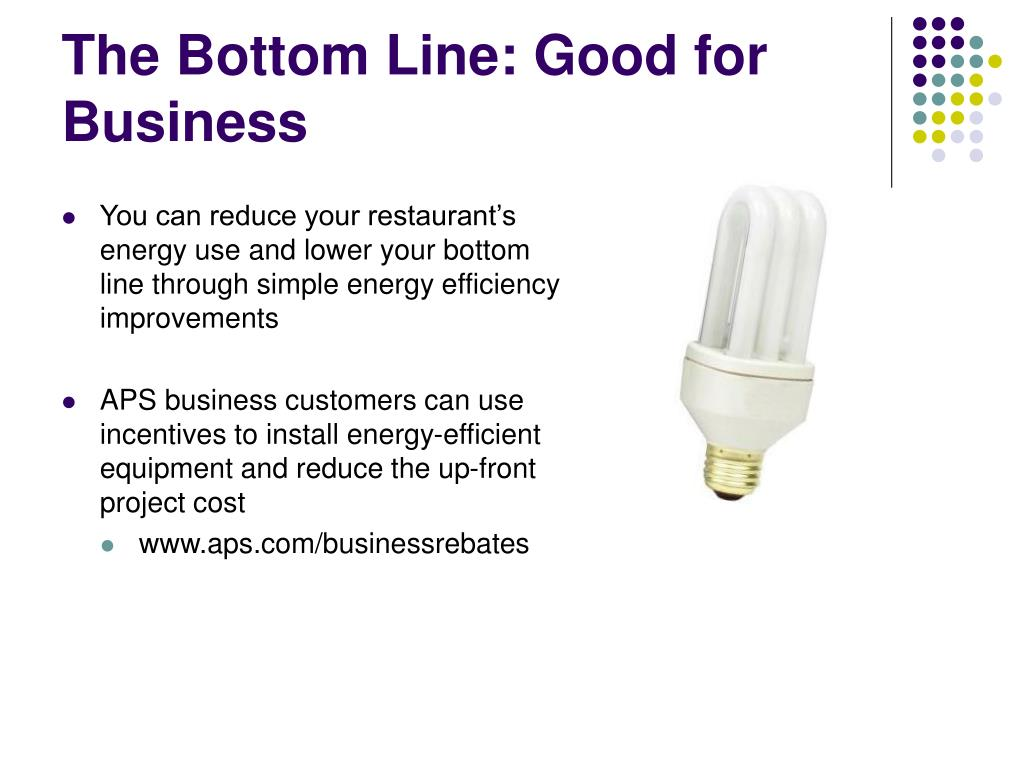 The Bottom Line: Good for Business