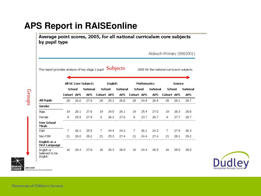APS Report in RAISEonline