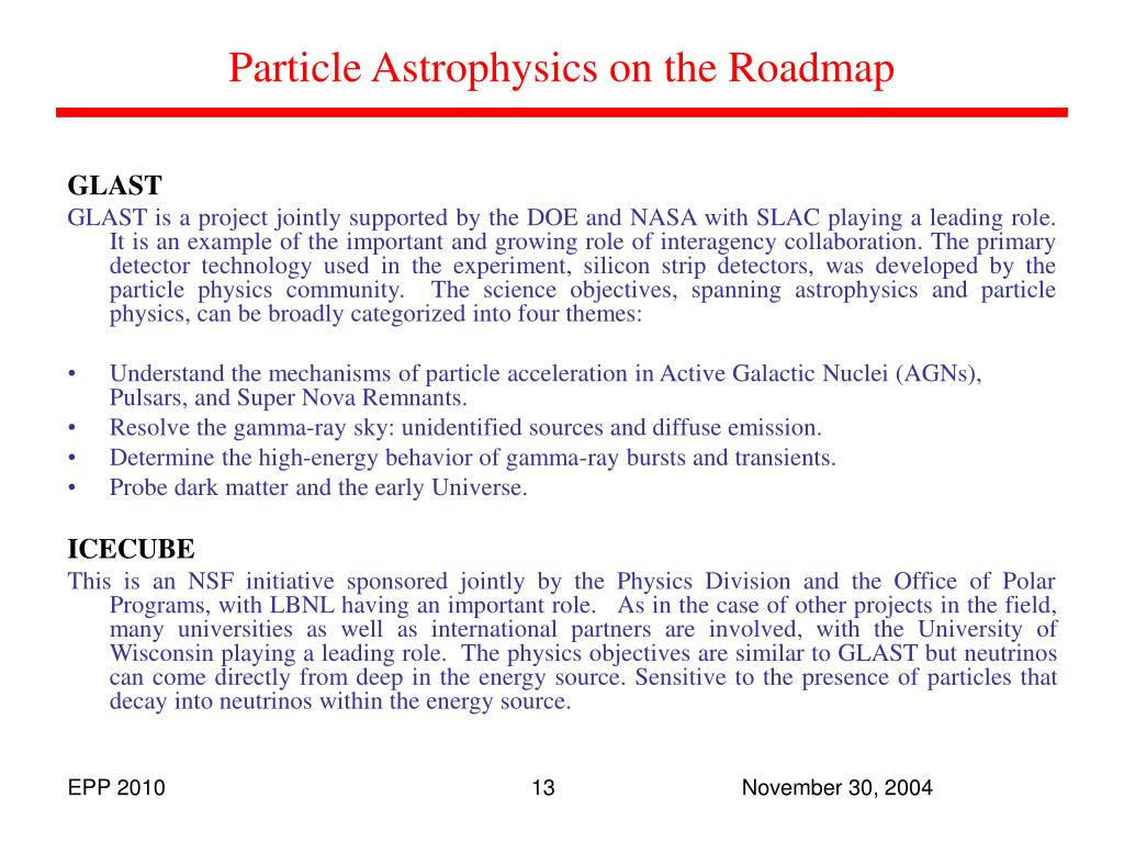 Particle Astrophysics on the Roadmap