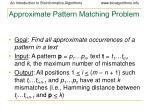 approximate pattern matching problem