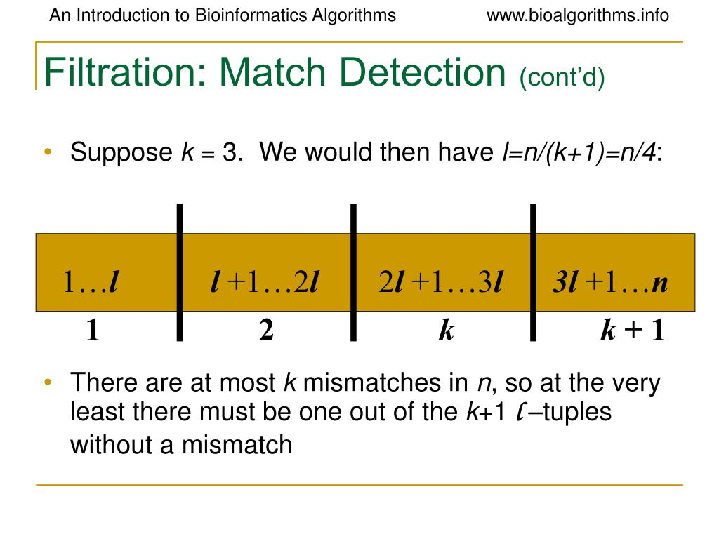 Filtration: Match Detection