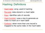 hashing definitions