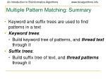 multiple pattern matching summary