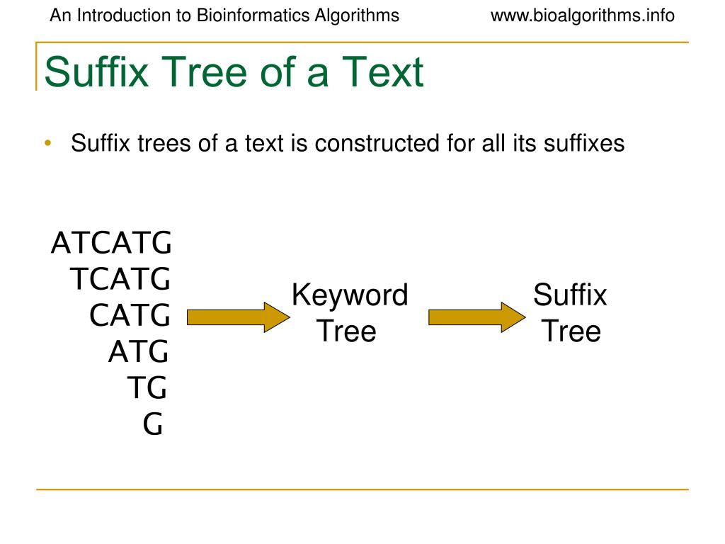 Suffix Tree of a Text