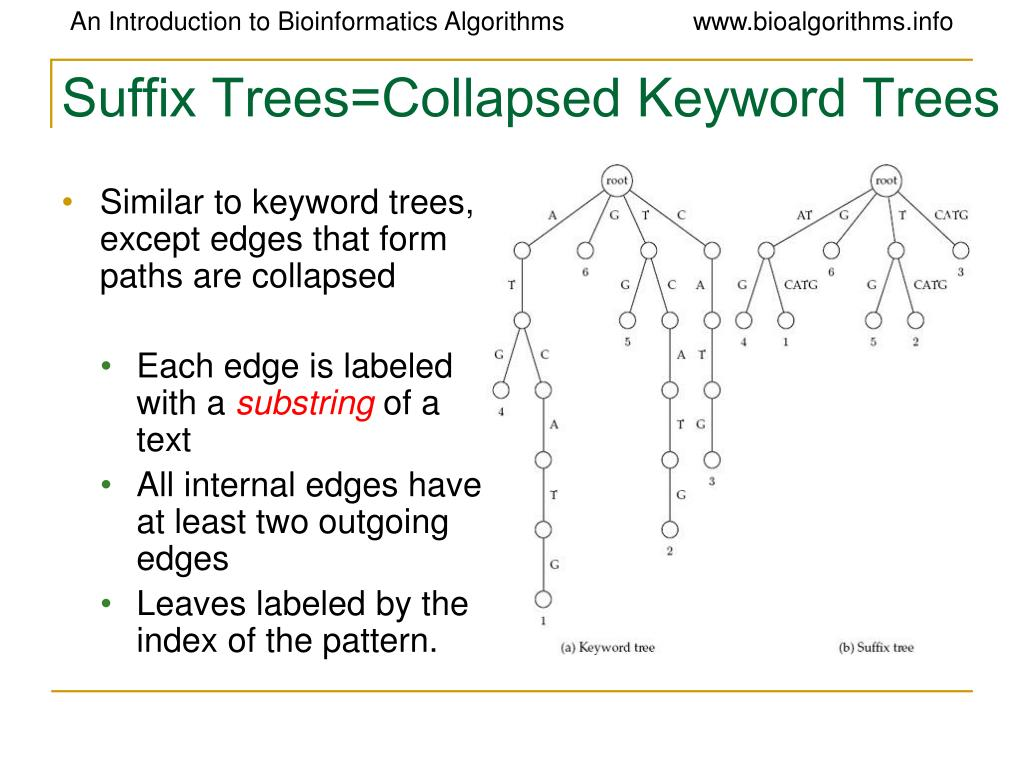 Suffix Trees=Collapsed Keyword Trees