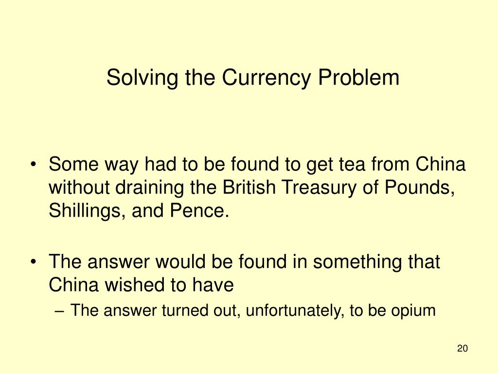 Solving the Currency Problem