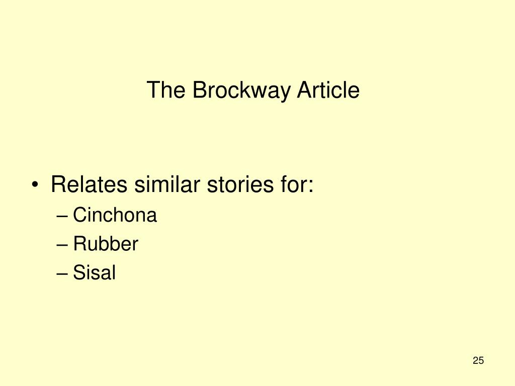 The Brockway Article