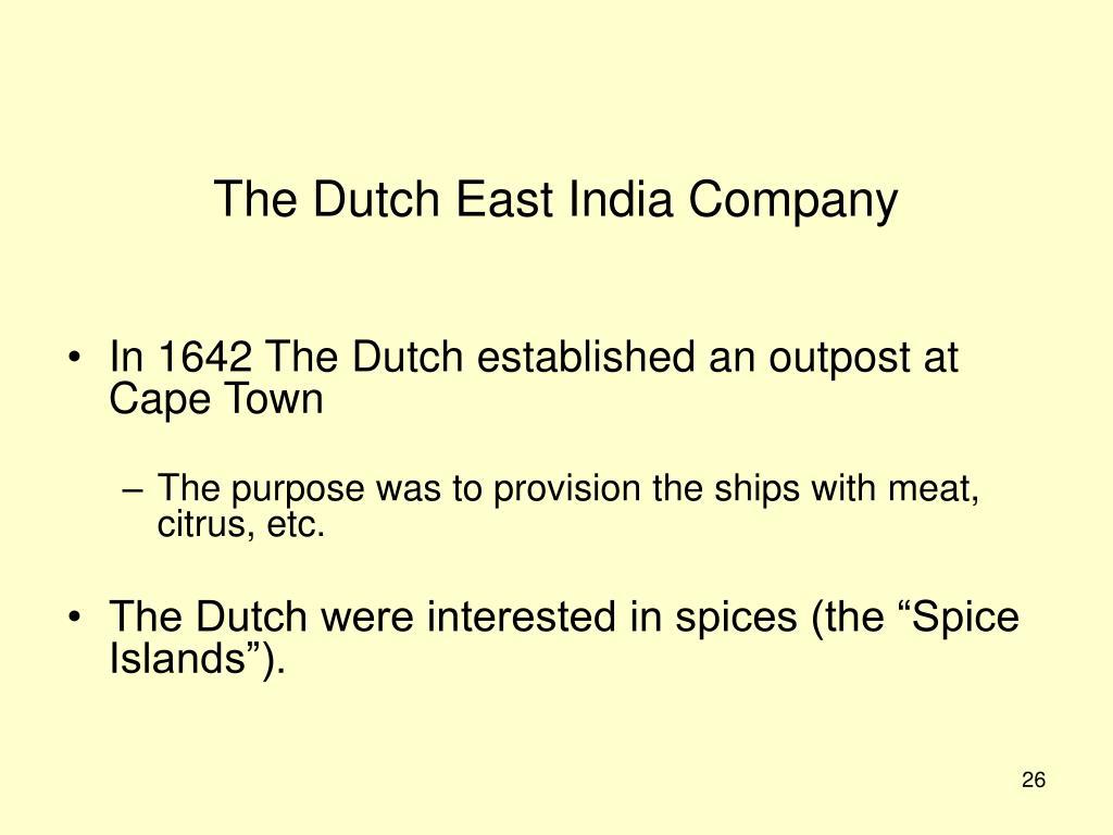 The Dutch East India Company