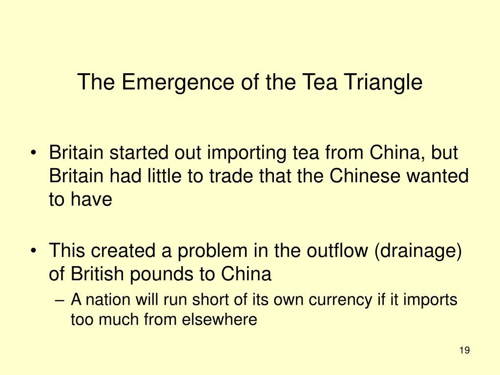 The Emergence of the Tea Triangle
