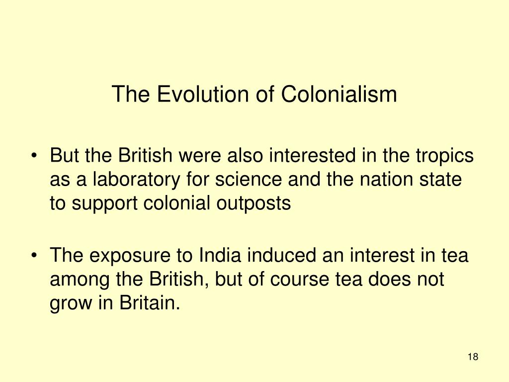 The Evolution of Colonialism