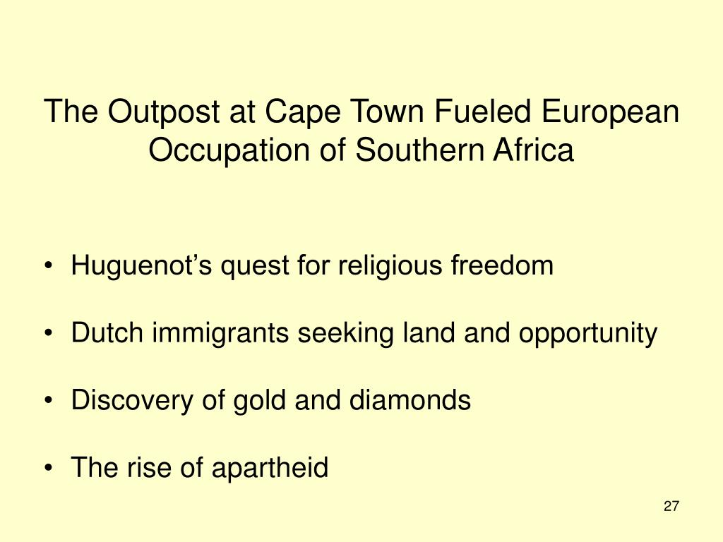 The Outpost at Cape Town Fueled European Occupation of Southern Africa