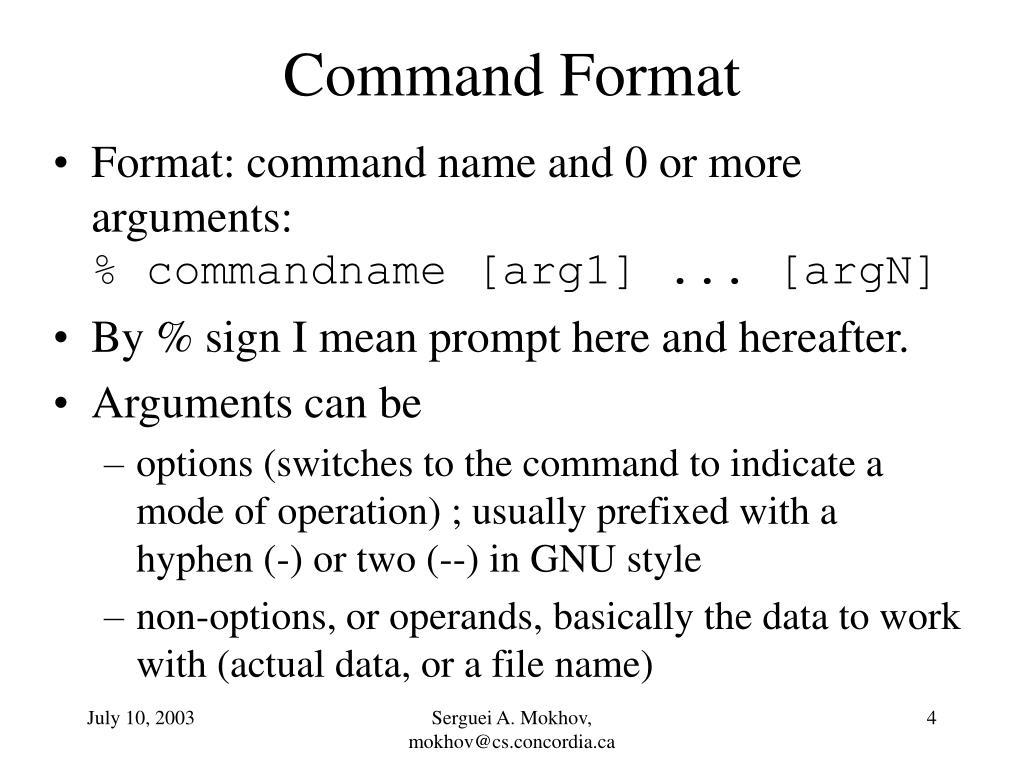Command Format
