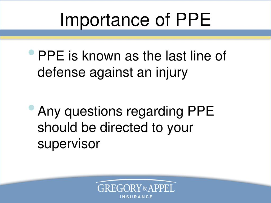 Importance of PPE