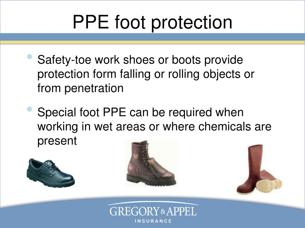 PPE foot protection