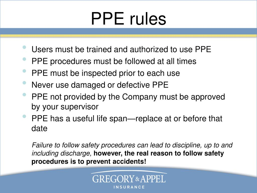 PPE rules