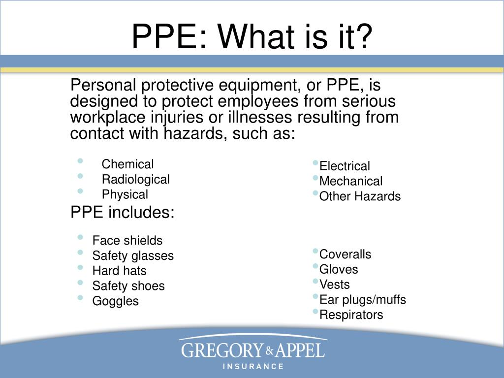 PPE: What is it?