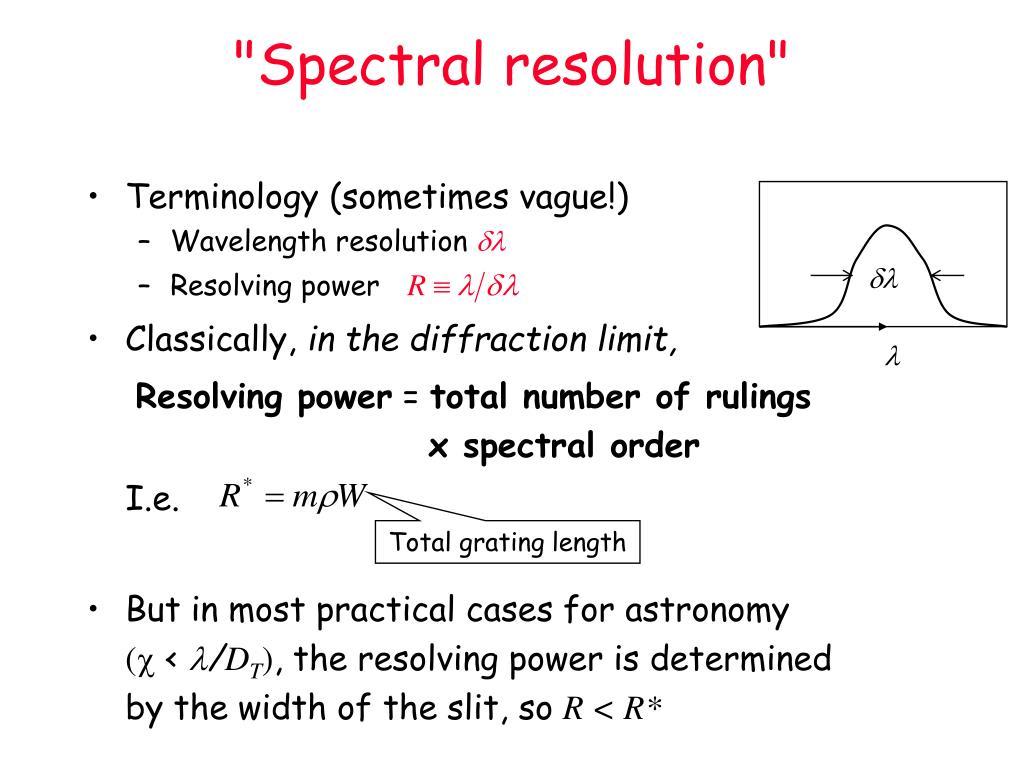 """Spectral resolution"""