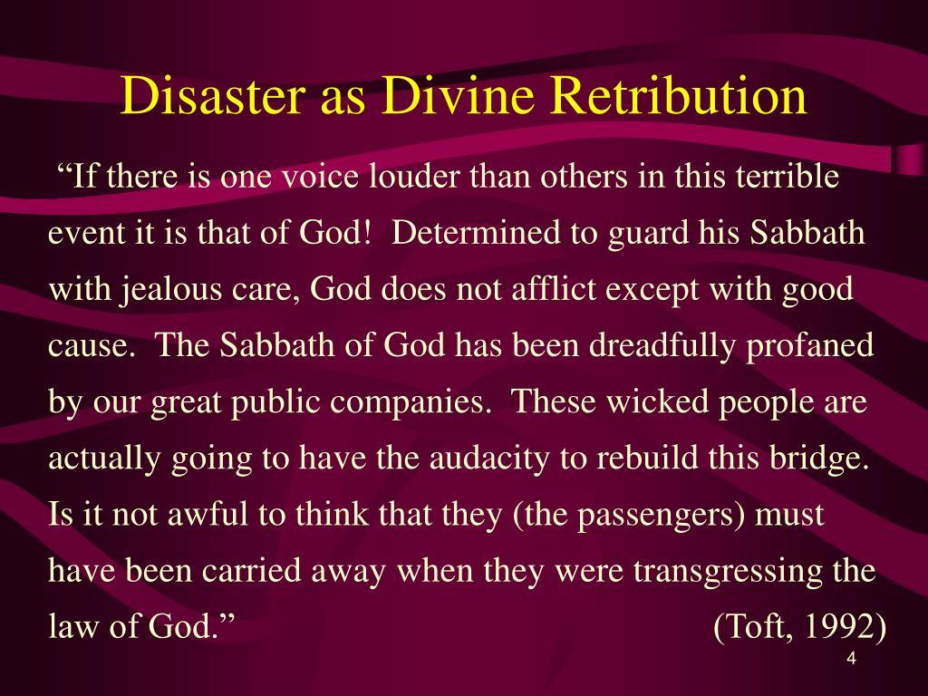 Disaster as Divine Retribution