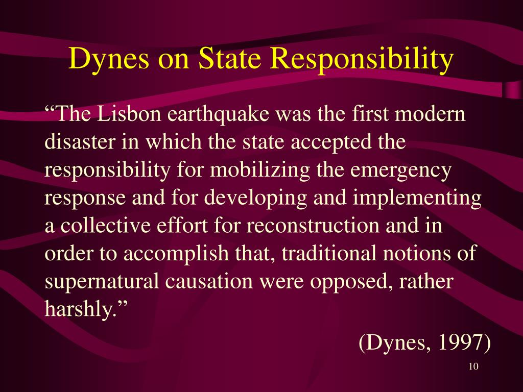 Dynes on State Responsibility