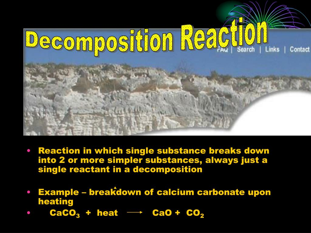 Decomposition Reaction