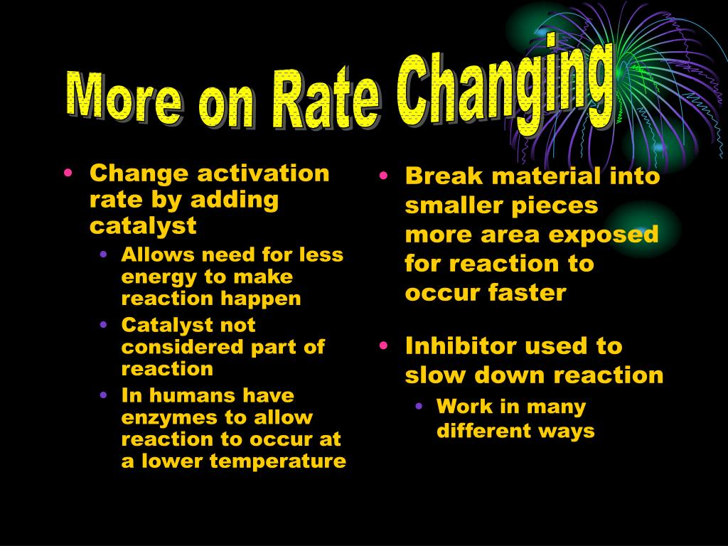 More on Rate Changing