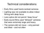 technical considerations35