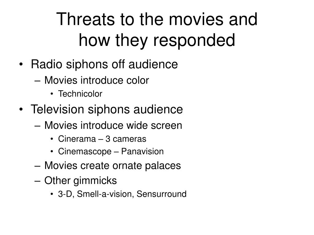 Threats to the movies and