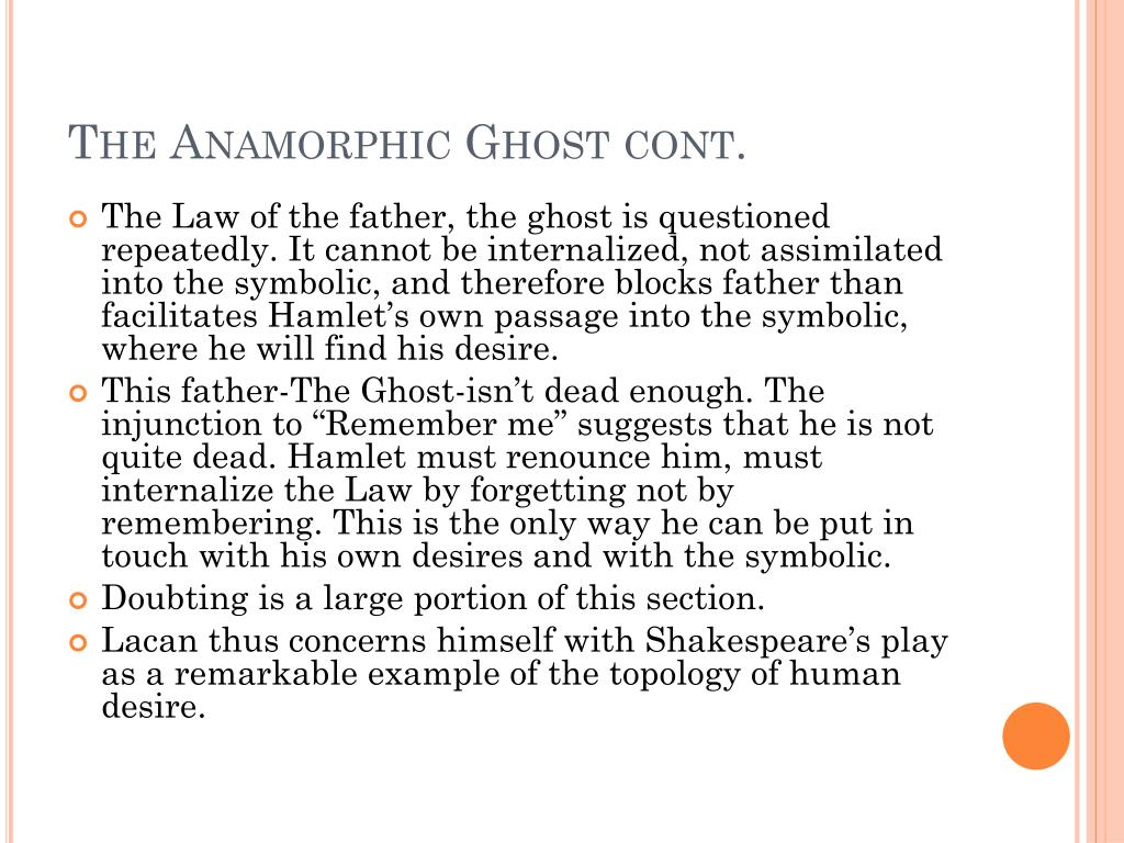 The Anamorphic Ghost cont.