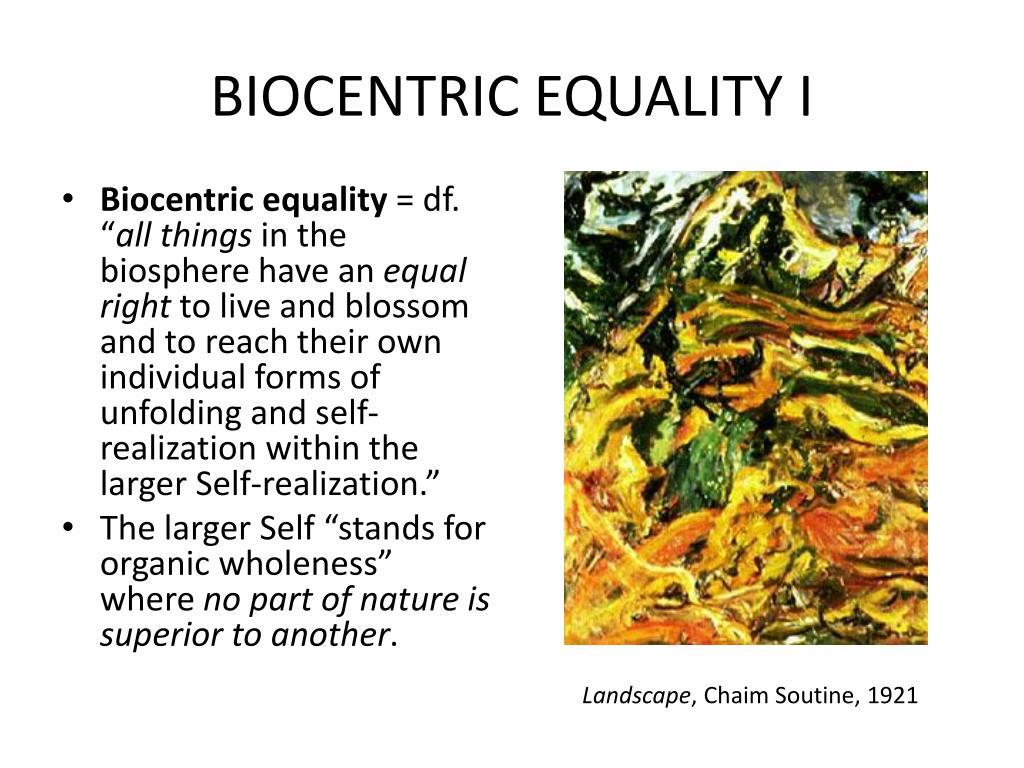 BIOCENTRIC EQUALITY I