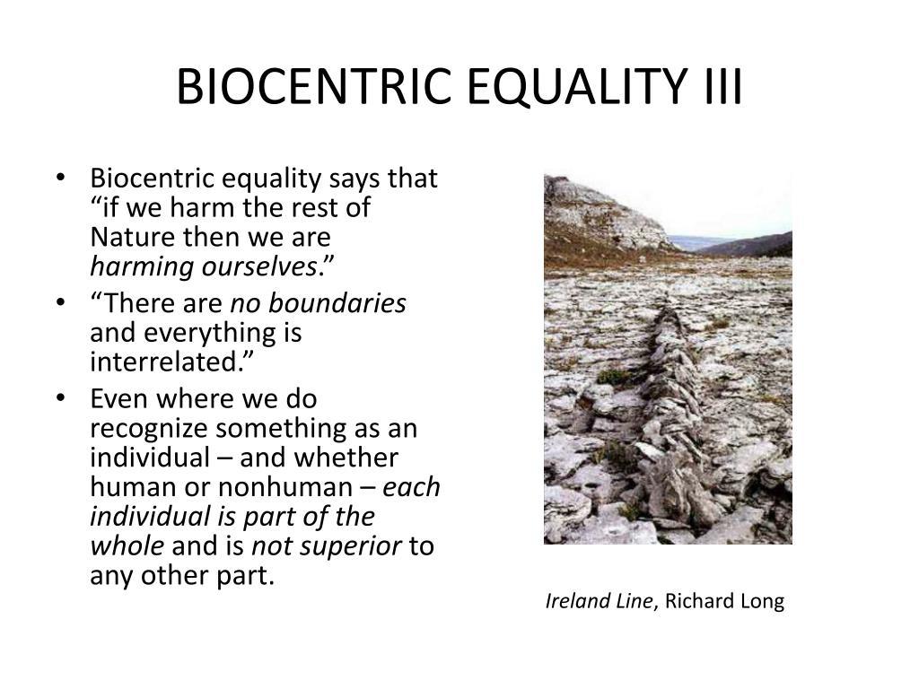 BIOCENTRIC EQUALITY III