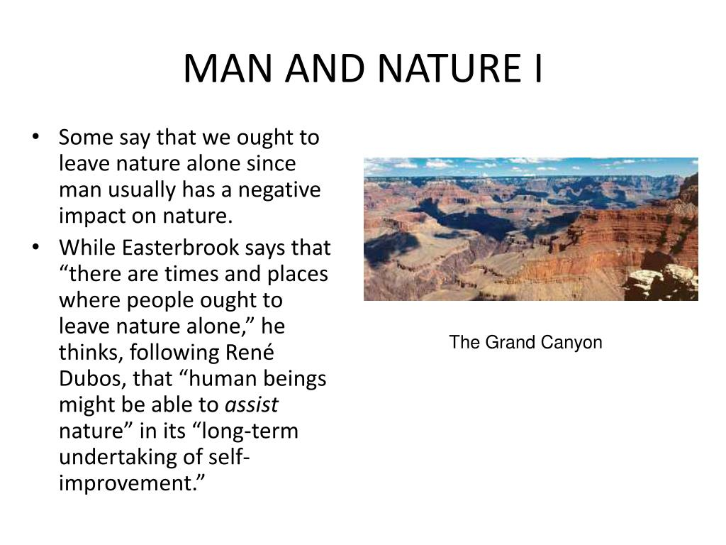 MAN AND NATURE I