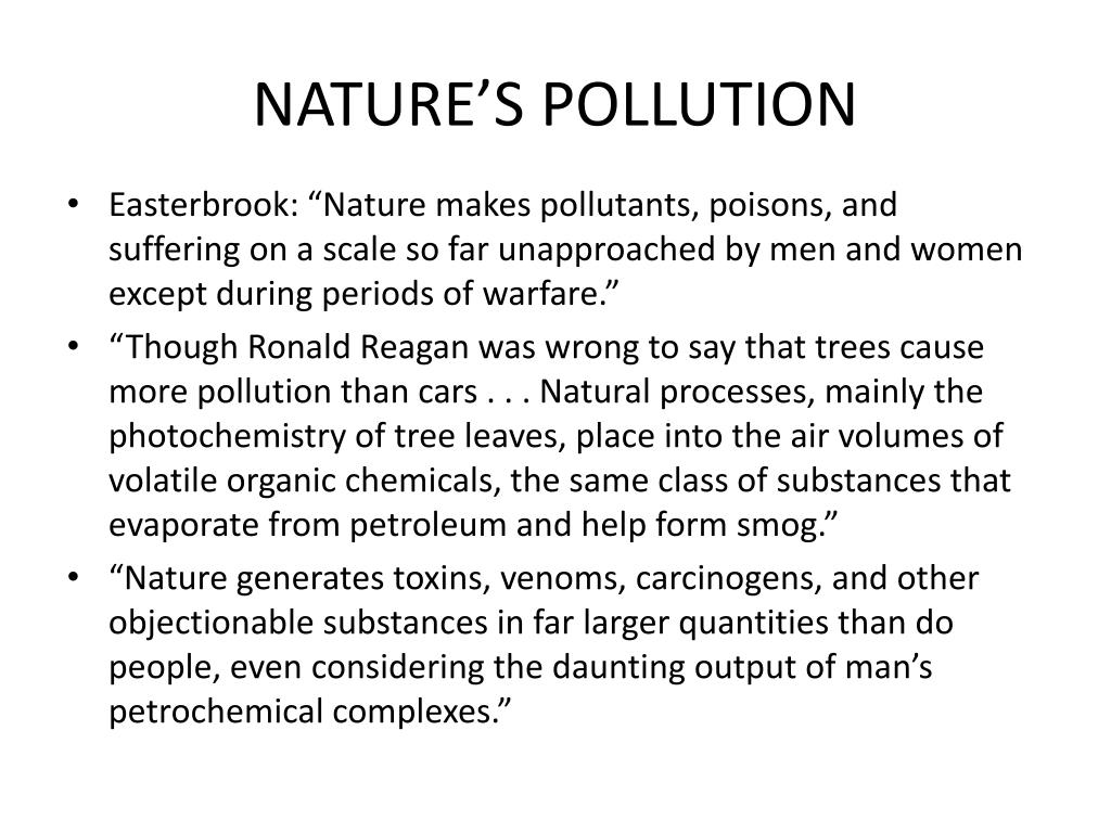 NATURE'S POLLUTION