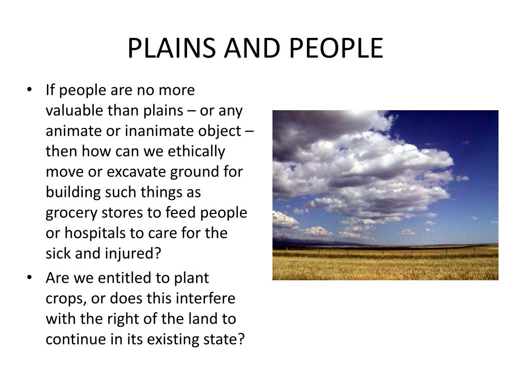 PLAINS AND PEOPLE