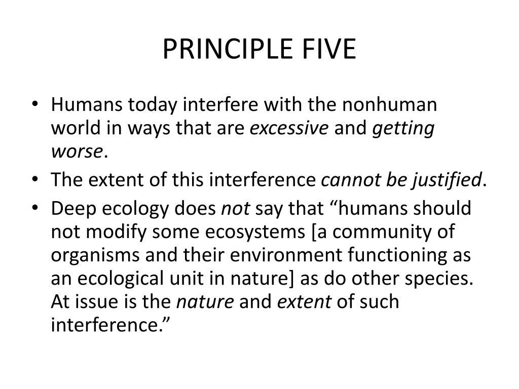 PRINCIPLE FIVE