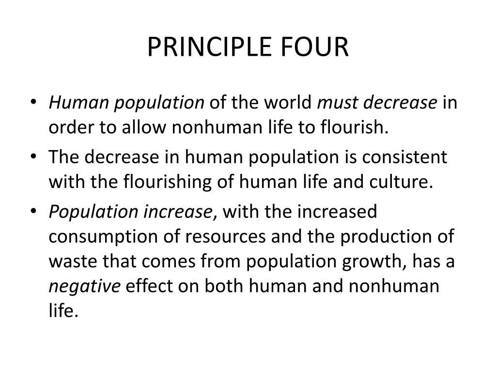 PRINCIPLE FOUR