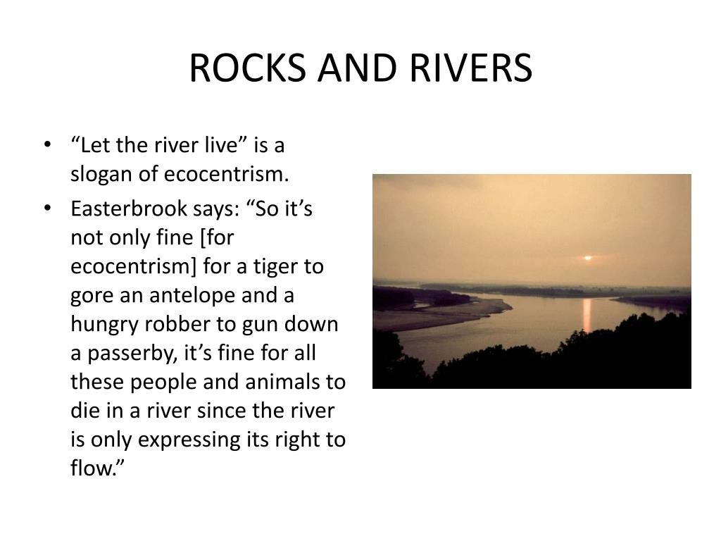 ROCKS AND RIVERS