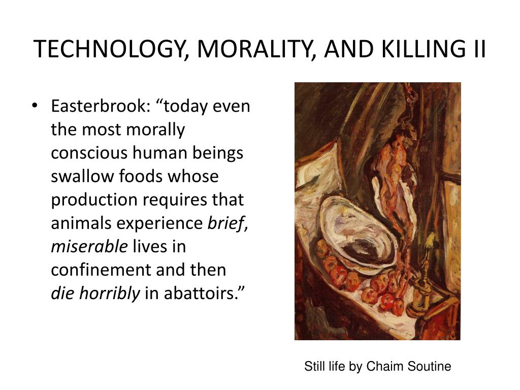 TECHNOLOGY, MORALITY, AND KILLING II