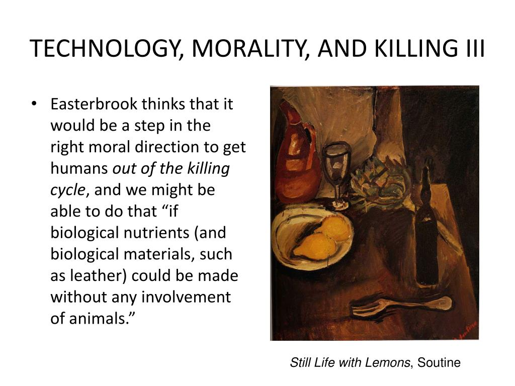 TECHNOLOGY, MORALITY, AND KILLING III