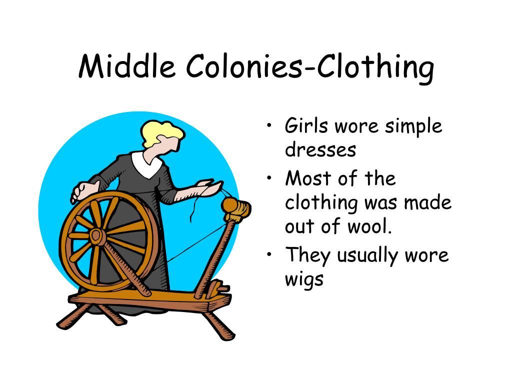 Middle Colonies-Clothing