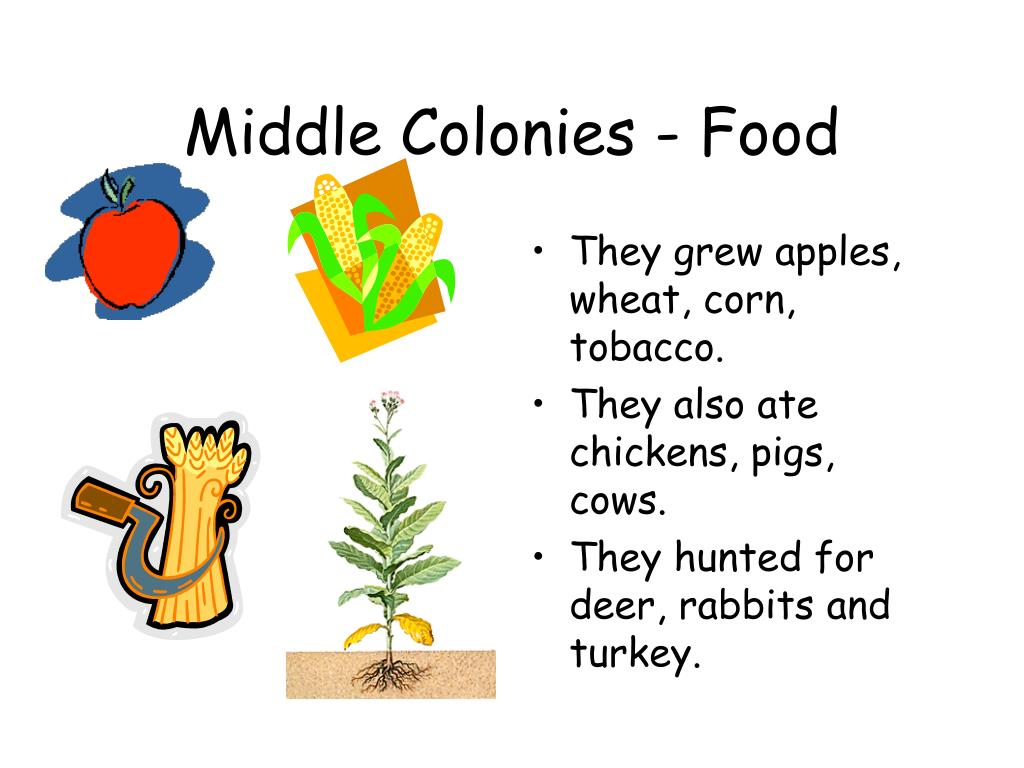 Middle Colonies - Food